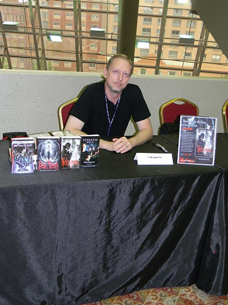 Signing books at Marcon, 2012.