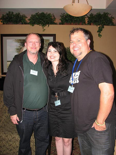 With Heidi Ruby-Miller and Jason Jack Miller at Confluence, 2012.