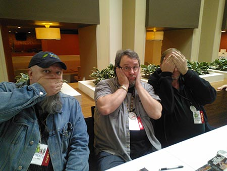 Speak no evil, hear no evil, see no evil – with Brady Allen and Gary Braunbeck. Context, 2012.