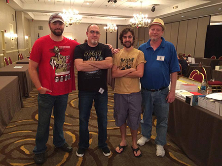 At Scares That Care 2014 with Kristopher Rufty, Brian Keene, and Adam Cesare.